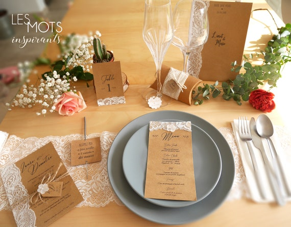 Make Parts Country Wedding Lace Kraft Country Wedding Invitation Kraft Paper With Lace