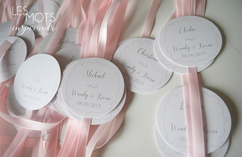 mark place baptism country place mark mark place labels Mark place wedding with ribbon