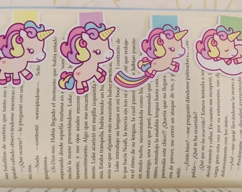 Unicorns — magnetic bookmarks