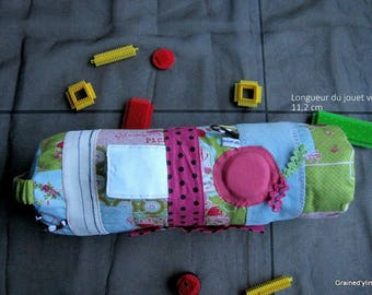 Roll of baby activity cushion, bolster discovery, unique play