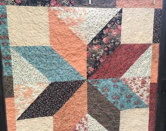 Star quilt, baby quilt, crib quilt, gender neutral quilt, shower gift