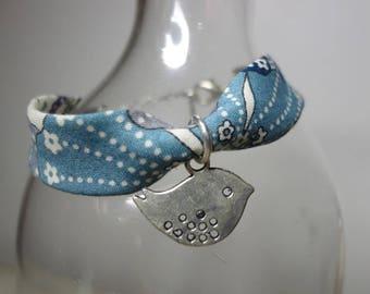 Child bracelet blue/grey + charm