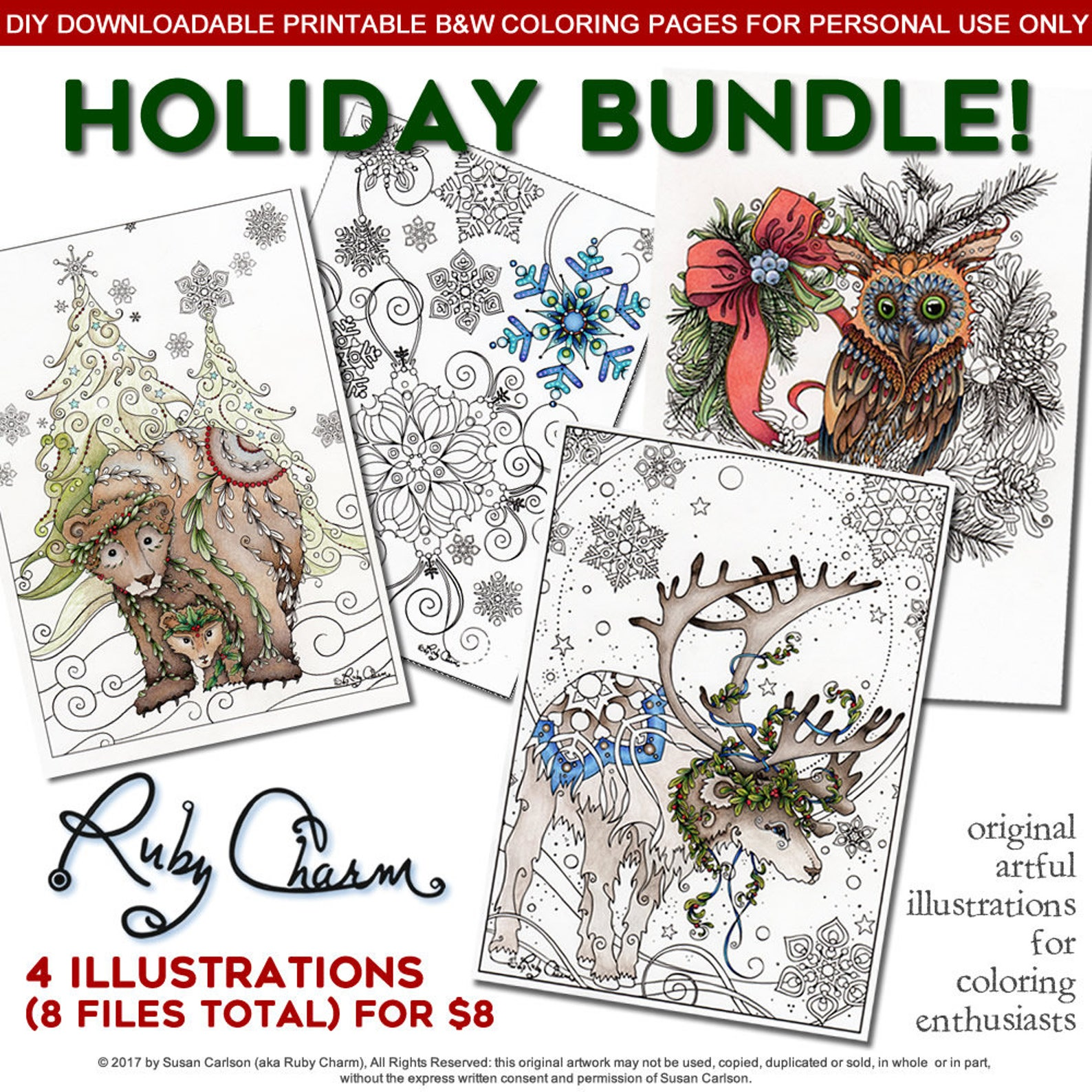 Ruby Charm Colors has some absolutely adorable holiday images here in this bundle on Etsy