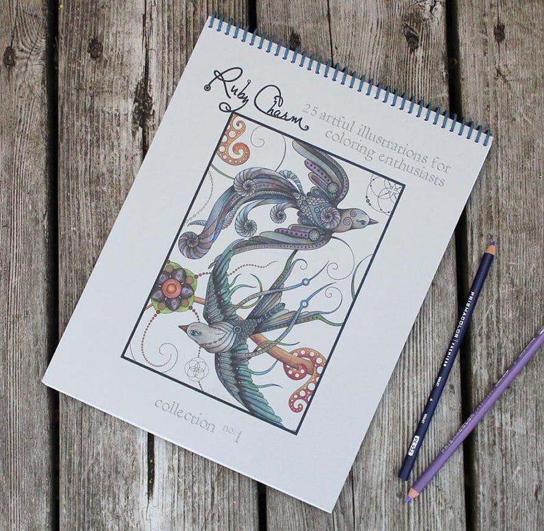 The Original COLORING BOOK: Handmade spiral-bound Artist Ed. image 0