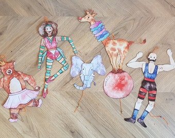 Circus Craft, Jumping Jack Puppet Kit