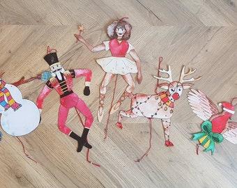 Christmas Craft, Jumping Jack Puppet Kit