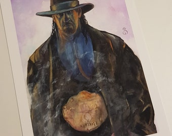 The Undertaker Watercolour Giclee Print A4