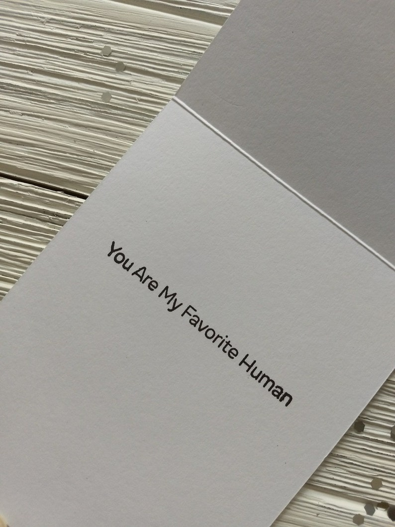 You/'re My Favorite Human Dog Love Card Anniversary Cards Cute Love Cards Dog Themed Anniversary Card Cute Dog Cards Love Cards