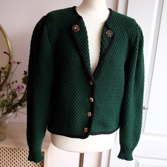 Trachtencardigan with puff sleeves