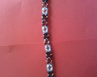 Bracelet light blue, dark and purple
