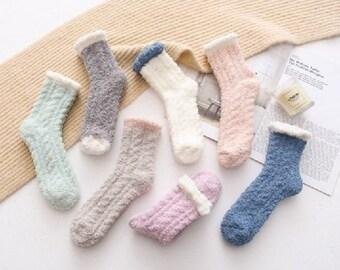 f59a273ddb074 Cotton Candy fuzzy socks, winter socks, warm socks, cozy socks, sleep socks,  gift for her, special occasion
