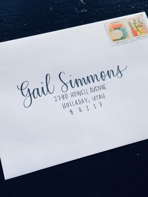 addressing an envelope  letter