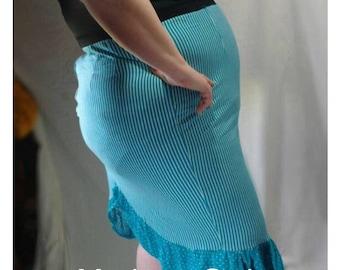 Plus size Rockabilly skirt Knee length office skirt/Plus Size business casual skirt/sexy plus size pinup punk dress MADE 2 ORDER