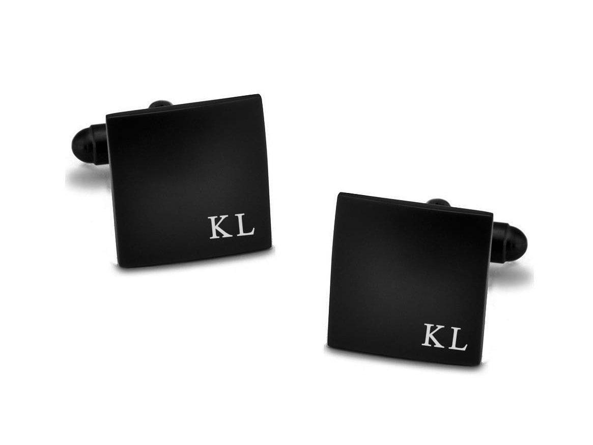 Stainless Steel Personalized Cufflinks Minimalistic Initials