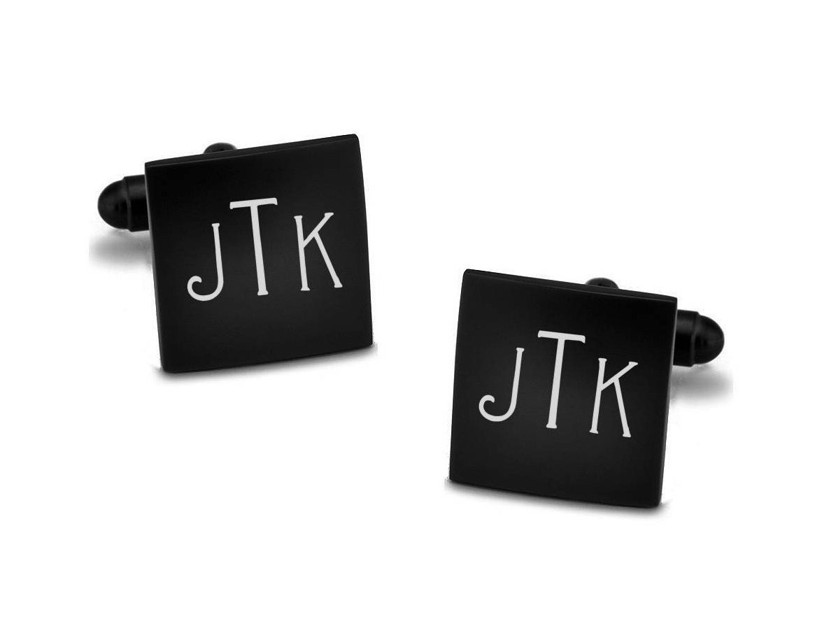 Stainless Steel Personalized Cufflinks Monogram Or Initials