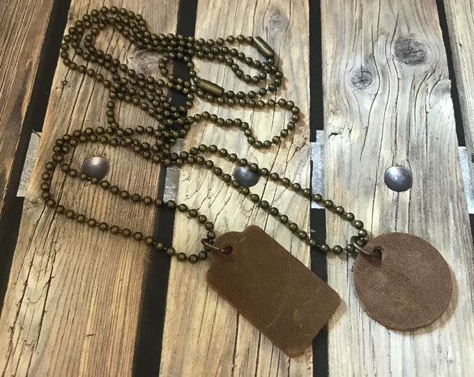 Mens Dog Tag Necklace Bohemian Necklaces Gift Mens Leather Pendant Boho Choker Gold Necklace Gift for Man Under 25 Leather Jewelry Festival