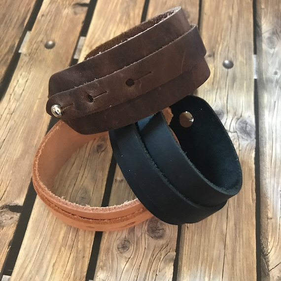 Leather Bracelet Wide Cuff Mens Jewelry Unique Gift Guide for Him Bohemian Bracelets Husband Boyfriend Dad Groomsmen Gift under 30 Holiday