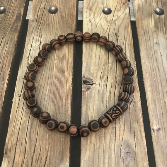 Amber Wood Beaded Bracelet Gift Guide for Him Her Them Couples Jewelry Boyfriend Husband Stacking Bracelet Wedding Party Gifts