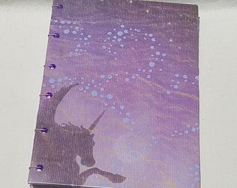 Alacorn Print Coptic Stitch Journal
