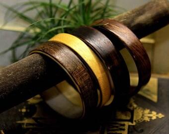 Vintage Wooden Bangle Set