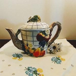 Vintage Figural Teapot Farm Shop Figural Teapot by Omnibus Fitz /& Floyd; Vintage Fitz and Floyd Omnibus Farm Shop Teapot