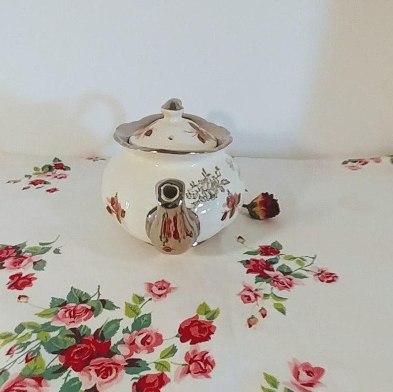 Silver Wedding Anniversary Teapot Vintage Teapot Full Size; Vintage Price Kensington Price Kensington Silver Wedding Anniversary Teapot