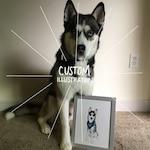 Custom Illustration   fuhglyduckling, personal painting, pet portrait, family portrait, profile picture, personalized gift, wedding portrait