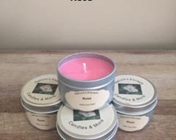Rose Soy Wax 6 oz. Candle Tins