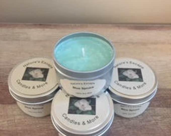Blue Spruce Soy Wax 6 oz. Candle Tins