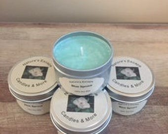 Blue Spruce Soy Wax 6 oz. Candle Tins
