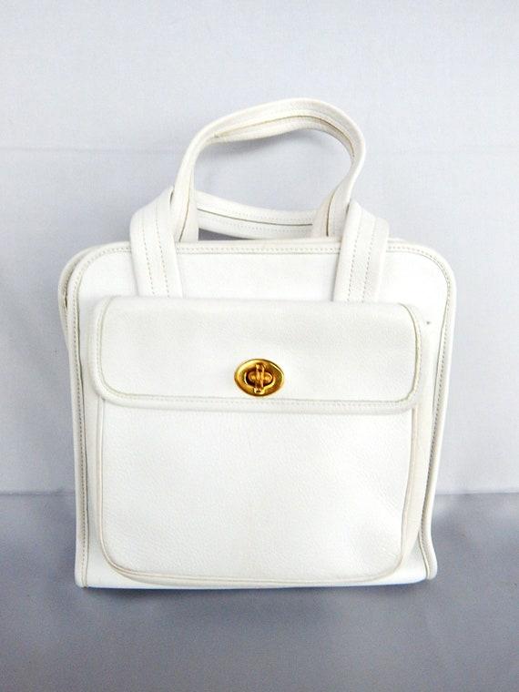 Rare Vintage Top Handle Coach Handbag Hand Bag 195