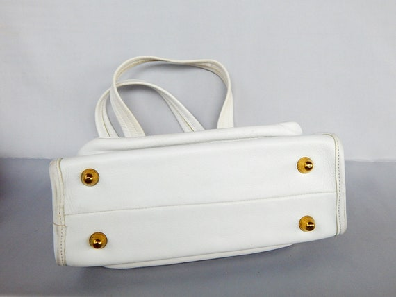 Rare Vintage Top Handle Coach Handbag Hand Bag 19… - image 7