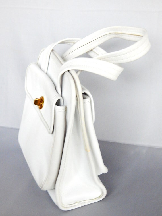 Rare Vintage Top Handle Coach Handbag Hand Bag 19… - image 3
