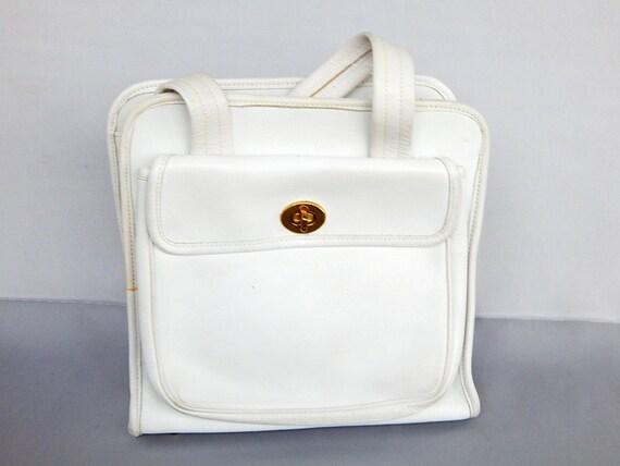 Rare Vintage Top Handle Coach Handbag Hand Bag 19… - image 4