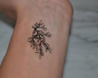 Olive Branch Tattoo Etsy