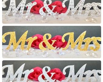 Mr & Mrs Wedding Table Decor