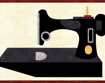 Featherweight Sewing Machine Applique Pattern