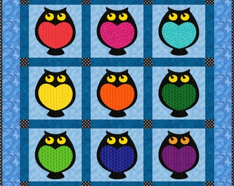 Hooti Toots Applique Pattern