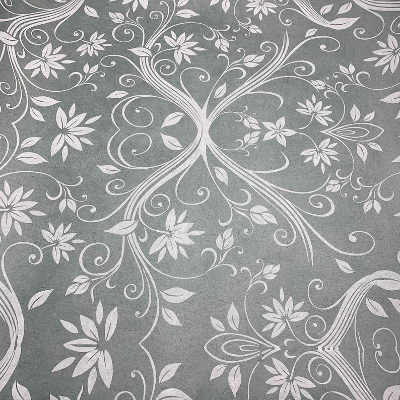 Handmade Screen Printed Lokta Paper Sheets Pack of 2 Thick