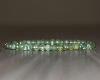 4mm Green Garnet Bracelet for Men, Women Bracelet, Garnet Jewelry, Beaded Bracelet, Gift for Him, Crystal Bracelet, Gift for Her, Wrist Mala