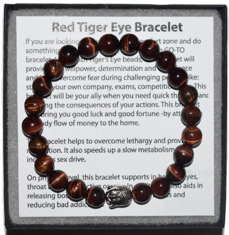 Red Tiger Eye Bracelet Gift for Boyfriend Gift 7 Chakra Bracelet Gift for Women Mens Bracelet Men Bracelet Homme Gift for Her Unisex