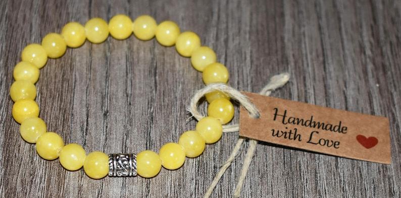 Gift for Mom Gemstone Bracelet Femme Gift for Her Gift for Women Chakra Bracelet Homme Yellow Jade Bracelet Fertility Bracelet