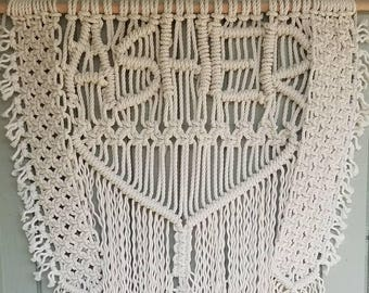CUSTOM #1 *Your Name* Macrame Bohemian Wall Hanging