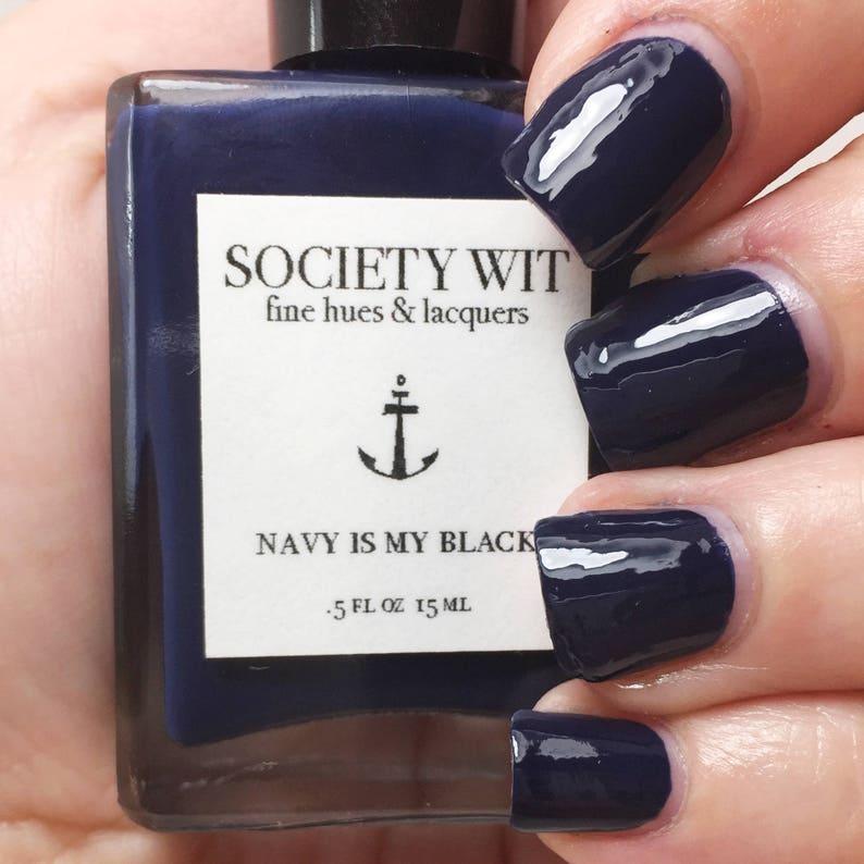 Blue Nail Polish Navy Nail Polish Custom Nail Lacquer | Etsy