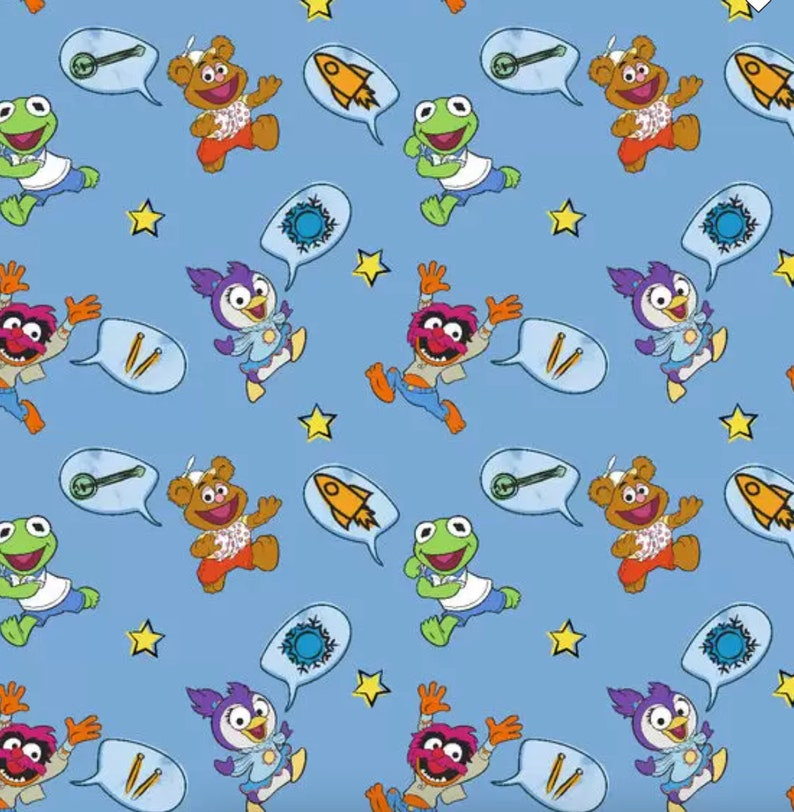 Muppet Babies Soft and Minky Baby Burp /& Terry Wash Cloths Set of Three