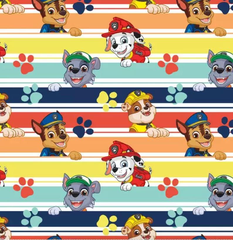 Set of Three Paw Patrol Soft and Minky Baby Burp /& Terry Wash Cloths