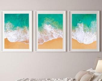 Set of 3 Bondi Beach Wall Art Print, Coastal Wall Art, Beach Decor, Downloadable Prints, Coastal Print Set, Large Wall Art Prints, Print Set