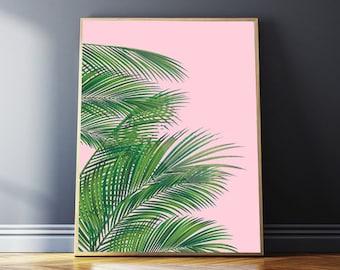 Palm Leaf Downloadable Prints, Digital Print, Bedroom Printable Wall Art, Palm Leaf Poster, Home Decor, Watercolor Nature, Australian Gifts