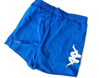 e902c4bd93c3 Vintage anni  90 Kappa blu coulisse calcio Gym Shorts uomo taglia grande