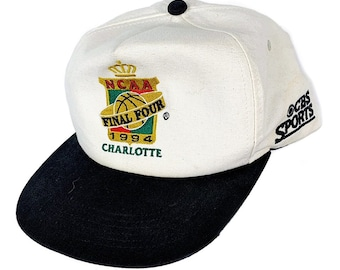 competitive price 5c252 37471 Vintage 1994 90s Charlotte Final Four NCAA Basketball Embroidered Snap Back  Hat